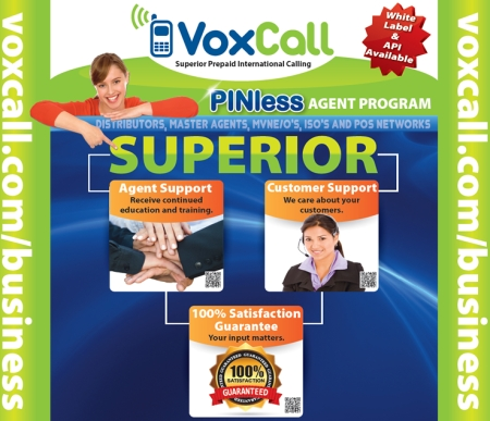 Vox Call - PINless Prepaid International Long Distance Agent Program